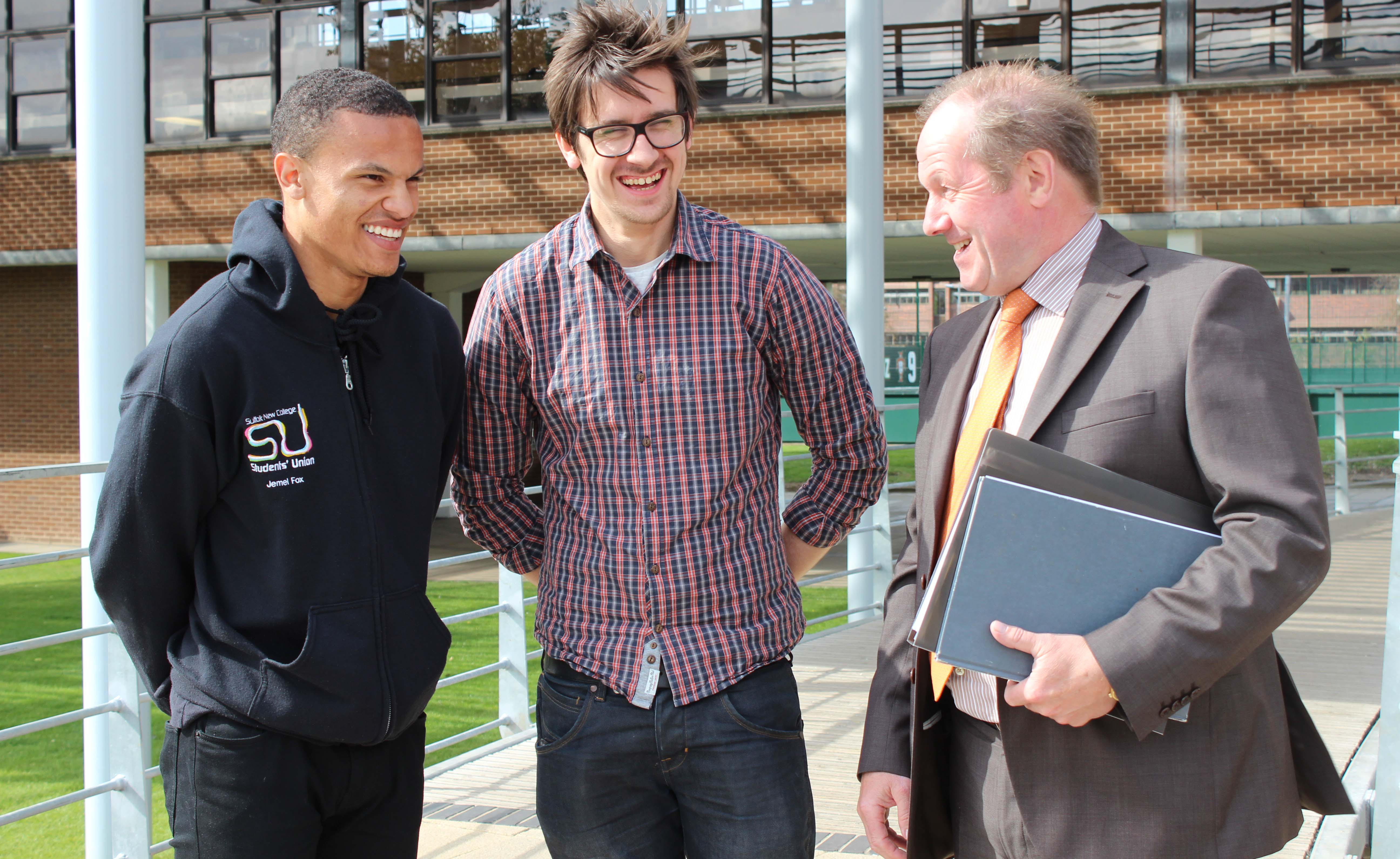 Tim with Presidents of UCS and SNC Student Unions