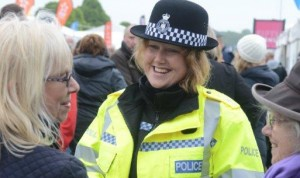Special Constable mingles with the crowds2
