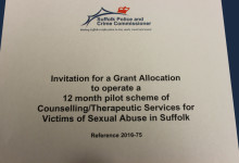 Counselling/Therapeutic Services for Victims of Sexual Abuse in Suffolk