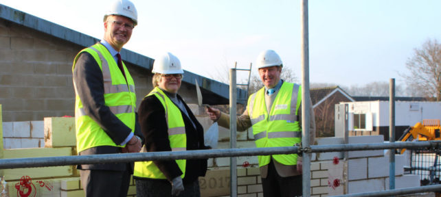 Saxmundham's new joint police and fire station works underway