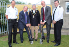 Groundbreaking ceremony for new fire/police station in Newmarket