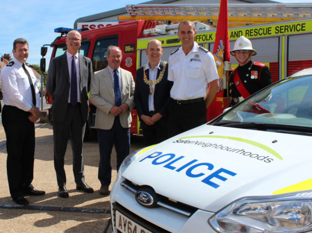 Official opening of Felixstowe police and fire station